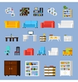 Icons Set Of Interior Elements vector image