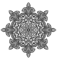 Indian ethnic round ornament Mandala Hand drawn vector image vector image