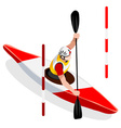 Kayak Slalom 2016 Sports Isometric 3D vector image vector image