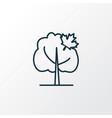 maple tree icon line symbol premium quality vector image