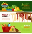 Market Banners Set vector image vector image