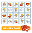 memory game for children cards with angels vector image vector image