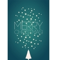 Merry Christmas Christmas card design vector image