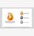 modern fire logo design vector image vector image