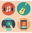 music icons and signs in flat style vector image