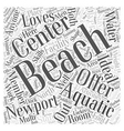 Newport Beach Aquatic Center Word Cloud Concept vector image vector image