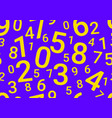 on a blue background are different numbers vector image vector image