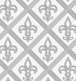 Perforated double countered Fleur-de-lis vector image vector image
