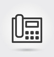 phone telephone communication call line icon vector image
