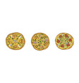 pizza set margherita and pepperoni vector image vector image