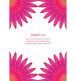 Red floral page corner design template vector image vector image