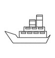 sea boat transport delivery vehicle logistic vector image vector image