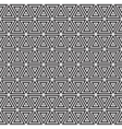 Seamless Black and White Triangles Line