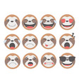 sloth emoticons vector image