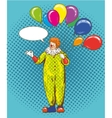 Smiling clown cartoon character with colorful vector image vector image