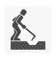soil excavation equipment vector image vector image