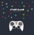 start game come and play game controller backgroun vector image