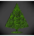 Stylized paper Christmas tree vector image