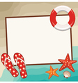 Summer frame with beach symbols vector image vector image