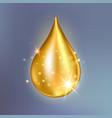 supreme collagen oil drop essence premium gold vector image vector image
