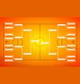 tournament bracket template for 16 teams on orange vector image vector image