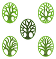 Tree of life green icon vector image vector image