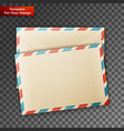 two blank envelope vector image vector image