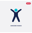 two color awesome human icon from feelings vector image vector image