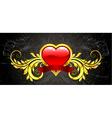valentine gold emblem vector image vector image