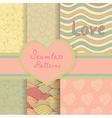Vintage Valentine seamless patterns set vector image vector image