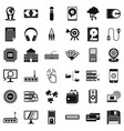 web extension icons set simple style vector image vector image