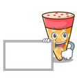 with board ice cream tone character cartoon vector image vector image