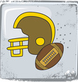 american football sports theme vector image