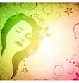 Spring Woman Silhouette vector image