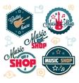 music logo set vector image