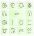 14 shirt icons vector image vector image
