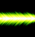 abstract green light arrow energy speed on black vector image vector image