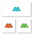 abstract play symbol logo template for your vector image