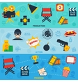 Action movie line banners vector image vector image