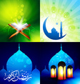 attractive set of eid background festival of vector image vector image