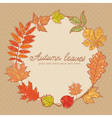 Autumn leaves colorful greeting card vector image vector image