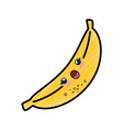 banana cartoon smiley vector image
