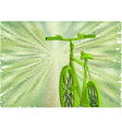 bicycle green road vector image vector image