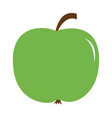 big fresh green apple icon healthy food lifestyle vector image