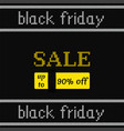 black friday poster on knitted texture vector image