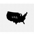 black usa map america map design isolated on vector image