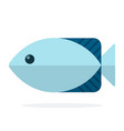 blue oceanic fish flat isolated vector image vector image