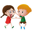 boy and girl dancing vector image vector image