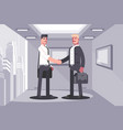 business partners shaking hands agreement concept vector image