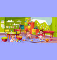 cartoon kindergarten montessori infants vector image